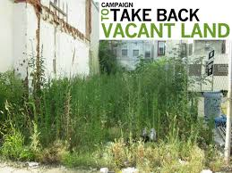 Update on Take Back Vacant Land Campaign