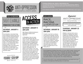 Anti-Oppression Working Group Workshop Series